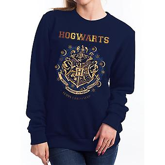 Harry Potter Unisex Adults Christmas At Hogwarts Print Crewneck Sweatshirt
