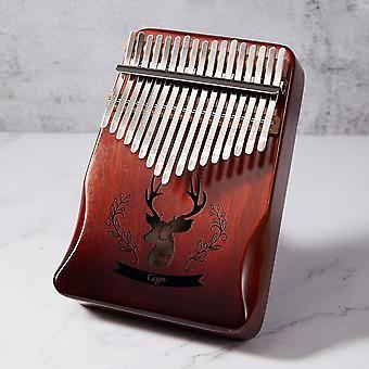 Калимба 17 Ключевые Mahogany Большой палец фортепиано Mbira Музыкальный инструмент
