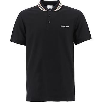 Burberry 8007694a1189 Men's Black Cotton Polo Shirt