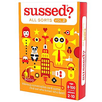 Sussed all sorts volume 2 (the hilarious who knows who best card game) (8+) all sorts 2