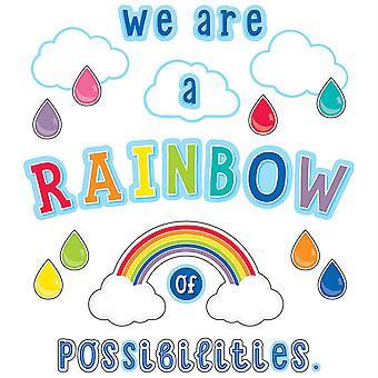 Hello Sunshine We Are A Rainbow Of Possibilities Bulletin Board Set