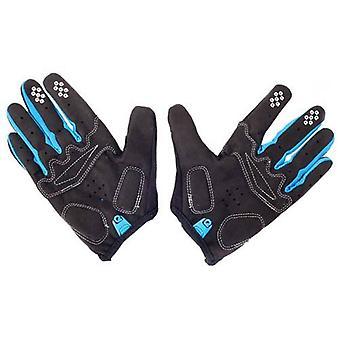 Eigo Aero Back Cycling Gloves Full Finger Blue