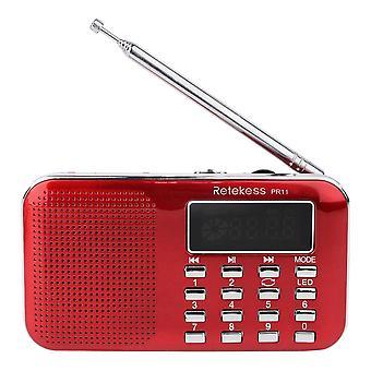 Retekess PR11 Portable Digital Tuning FM AM Radio TF Card USB Disk MP3 Music Player Flashlight