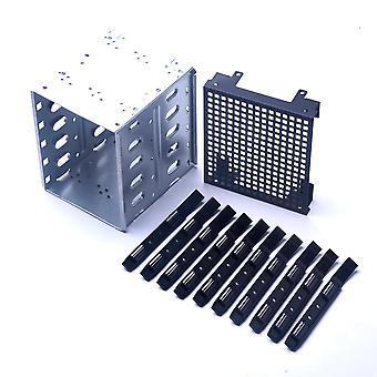 "5.25"" To 5x 3.5"" Sas Sata Hdd Hard Drive Cage Rack For Computer With Fan"