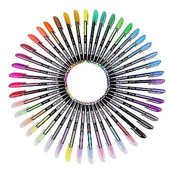 Glitter Gel Pens,48 Colors Gel Pen Sets,for Coloring Books, Drawing, Doodling