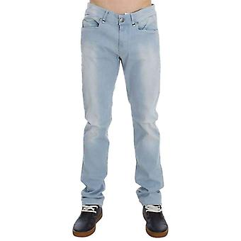 Blue Denim Cotton Stretch Slim Fit Jeans