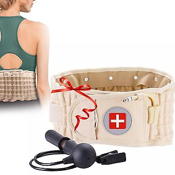 Back Decompression Waist Belt Lumbar Inflatable Traction Protector Sp