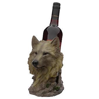 Protetor sonhador da meia-noite decorativo do porta-garrafas do lobo norte