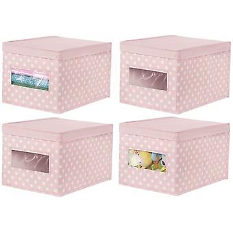 HanFei 4er-Set stapelbare Ordnungsbox – groe Aufbewahrungsbox mit Sichtfenster fr das