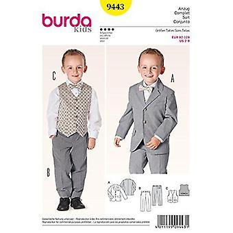 Burda Style Couture Motif 9443 Veste de soirée, Pantalon, Gilet,