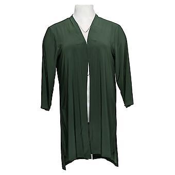 Kobiety z control women&s sweter Petite Liquid Knit Cardigan Green A381585