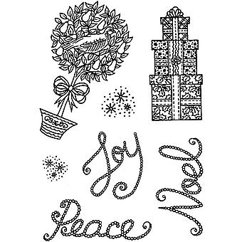 Personal Impressions Joy Noel Peace Clear Stamps