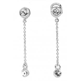 Traveller Drop Clip Earrings Rhodium Plated - 157398 - 866