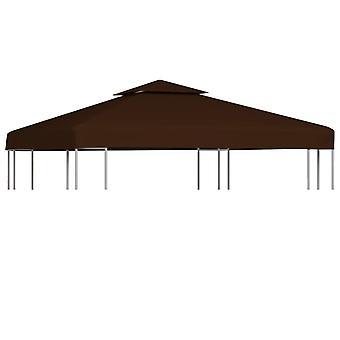 vidaXL 2-stage pavilion roof 310 g / m2 3x3 m brown