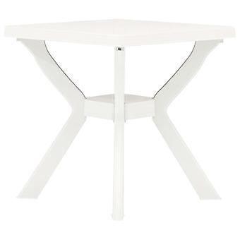 vidaXL Bistro Stół biały 70x70x72 cm Plastik