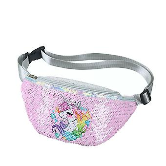 Fashion Sequins Printing Unicorn Waist Bag