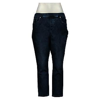 Belle By Kim Gravel Women's Petite Jeans Flexibelle Pull On Blue A368551