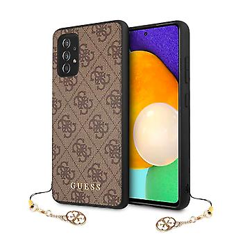 GUESS 4G Charms Backcase Hoesje Samsung Galaxy A52 / A52s - Bruin
