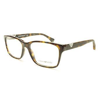 Emporio Armani EA3042 5026 Eyeglasses Frame Acetate Brown Tortoise