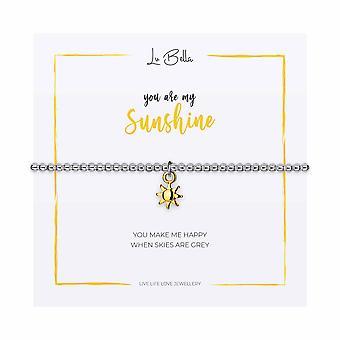 You Are My Sunshine - Bracelet Sentiments 17.5cm - Argent - Cadeaux bijoux pour femmes de Lu Bella