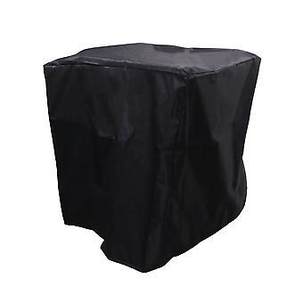 Barbecue extérieur carré Grill Cloth Cover 68x68x72cm Noir + Argent