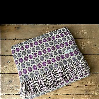 Wool throw Spa lavender