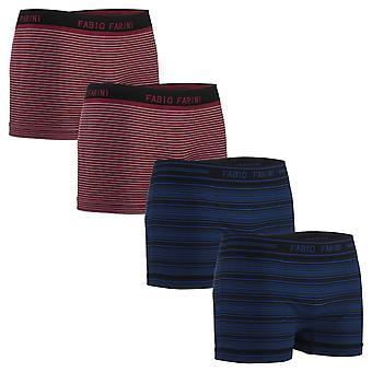 Fabio Farini set of 4 microfiber Seamless men's boxer shorts