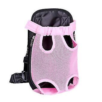 M 30 * 20cm roz în aer liber sac portabil pentru animale de companie, rucsac plasă respirabil pentru pisici și câini az7794