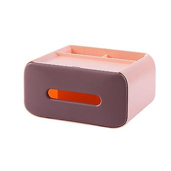 Dust Proof Tissue Box Remote Control Holder