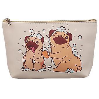 Mopps Pug Medium PVC Wash Bag