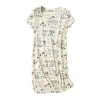 Allthemen femeii casual imprimate dintr-o singură bucată cămașă de noapte loose și pijamale confortabile