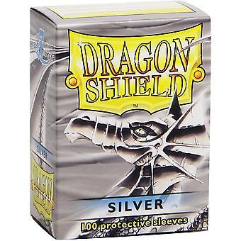 Dragon Shield Standard Silver Card Sleeves - 100 Sleeves