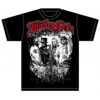 Motley Crue Greatest Hits Bandshot Mens Black TShirt: Medi