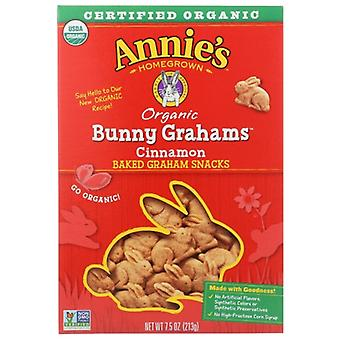 Annie's Homegrown Cookie Bunny Graham Cinna, Case of 12 X 7.5 Oz