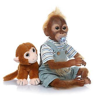 New 21inch 52cm handmade reborn monkey very soft silicone vinyl flexible collectible art doll