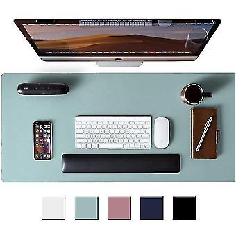 Læder skrivebordsplade beskytter,musemåtte,skrivebordsmåtte(grå sølv)