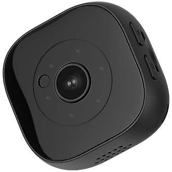 ميني واي فاي HD كاميرا المراقبة الداخلية مع استشعار الحركة ووظيفة الرؤية الليلية (أسود)