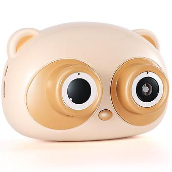 Cute Cartoon Pig Camera Kids Baby Bubble Machine Outdoor Automatic Bubble Maker Gift(Yellow)