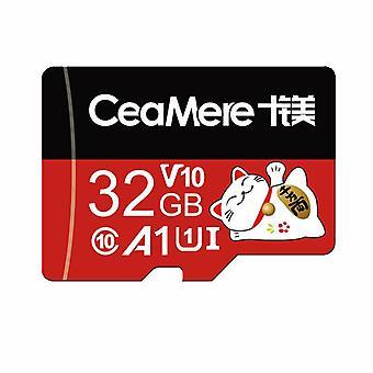 Ceamere tarjeta de memoria C10 de alta velocidad TF tarjeta de almacenamiento de datos MP4 MP3 tarjeta para la conducción de automóviles Grabador