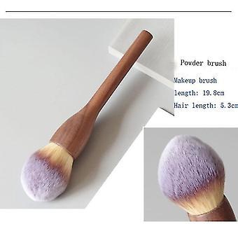 1Pcs Vintage Wood Handle Makeup Brush Super Soft Theatre Makeup|Eye Shadow Applicator