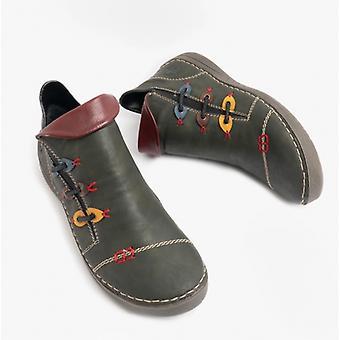 ريكر 72581 السيدات عارضة أحذية الكاحل الزيتون