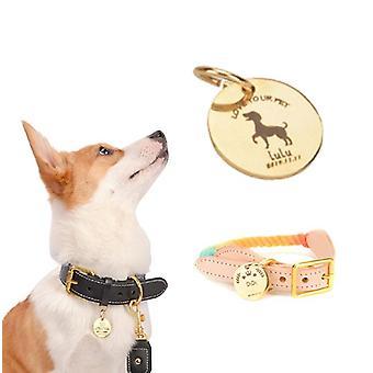 5pcs Dog Tags de identificação de identificação de identificação para gato filhote de estimação anti-perda tag colar