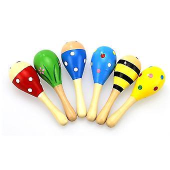 Wooden Musical Instrument-baby Rattle Sand Hammer