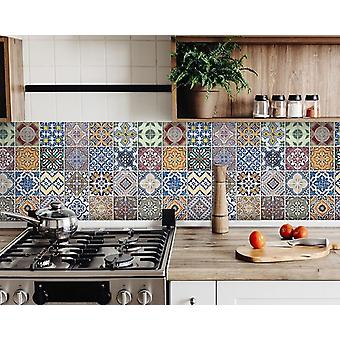 "8"" X 8"" Linna Mutli Mosaic Peel and Stick Tiles"