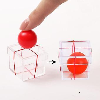 Magic novelties ball penetrating through box magic toy for professional magician props sm114363