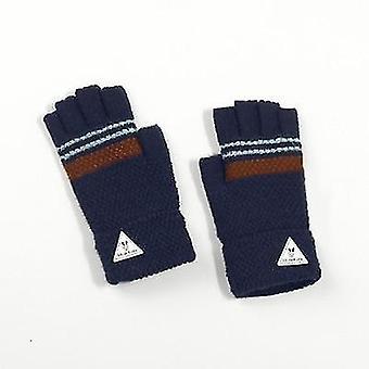 Childrenins Half-finger Windproof Long Fingerless Gloves