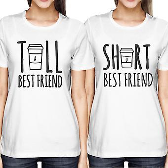Süße Freundin hoch und kurz passende T-Shirt BFF Shirts für Kaffee-Liebhaber