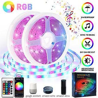 15/20M 12v music sync wifi app remote rgb led strip lights for rooms bar dc kits waterproof