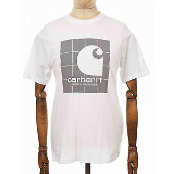 Carhartt WIP Heijastava neliö t-paita - Valkoinen