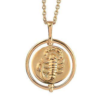 TJC Skorpion Sternzeichen Anhänger für Frauen in vergoldetem Silber